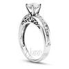Engagement ring in gold platinum and palladium