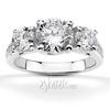 Trellis three stone diamond accent engagement ring