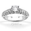 Scroll work filigree diamond engagement ring