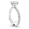 Micro pave set tiffany head gold platinum palladium engagement ring