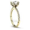 Yellow gold 14k 18k diamond engagement ring