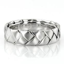 Hc100207 bestseller shiny hand braided wedding ring