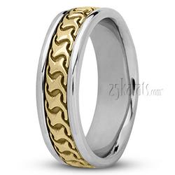 Hc100227 modern handcrafted wedding ring