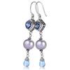 Iolite blue topaz freshwater pearl earrings