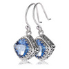 Sterling silver and iolite topaz earrings