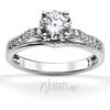 Miro pave set cathedral diamond engagement ring
