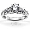 Filigree scroll diamond engagement ring