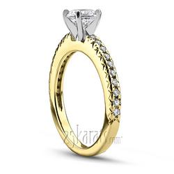 Yellow gold novo inspired engagement ring