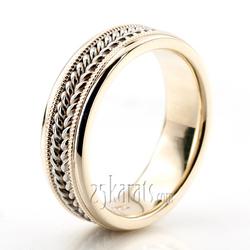 Double Braided Milgrain Hand Woven Wedding Ring