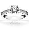 Scroll diamond engagement ring