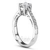 Heart design scroll ring