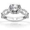 Pave set infinity shank stylish engagement ring