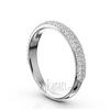 Micro pave set 3 row diamond wedding anniversary band