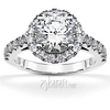 Designer inspired halo engagement ring with diamonds