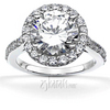 Brilliant halo contemporary diamond engagement ring