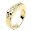 0.55 ct. Round Cut Channel Set Diamond Men's Wedding Ring