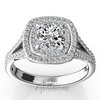 Split shank double halo diamond engagement ring