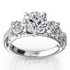Scroll antique diamond engagement ring