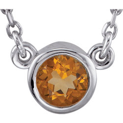 Sterling-silver-citrine-solitaire-pendant