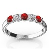 Ruby and diamond womens wedding and anniversary band