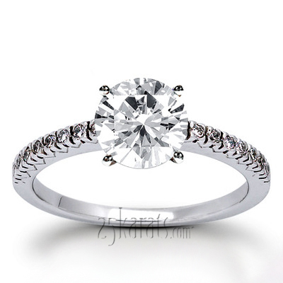 Round Cut Fish Tail Set Diamond Engagement Ring (0.16 ct. tw.)