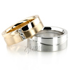Wedding band set hh 127 white and yellow
