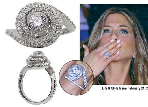 heres jennifers former ring and - Jennifer Aniston Wedding Ring