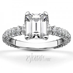 Gay And Lesbian Wedding Bands 49 Cute micro pave emerald cut