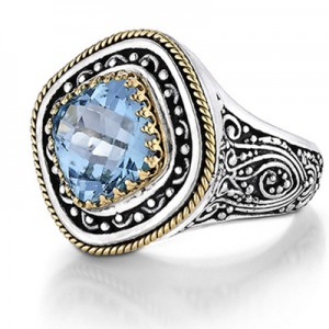 Blue Topaz Wedding Band 97 Luxury sterling silver and k