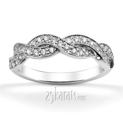 ... Infinity 18k And Platinum Diamond Wedding Band (1) ...