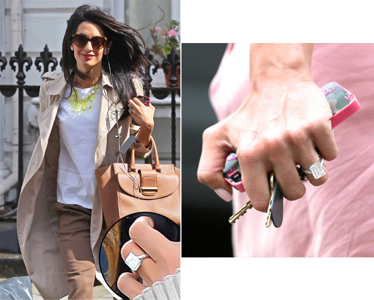 See Amal Alamuddins Engagement Ring from George Clooney Bridal